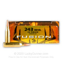 243 Ammo For Sale - 95 gr Fusion - Federal Fusion Ammo Online