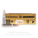 308 150 grain TSX Federal Premium Vital Shok Rifle Ammunition - 20 rounds