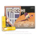 "Cheap 20 Gauge Ammo For Sale - 3"" 1-1/4oz. #4 Shot Ammunition in Stock by Fiocchi - 25 Rounds"