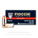 Bulk 45 ACP Ammo For Sale - 230 Grain XTP HP Ammunition in Stock by Fiocchi - 500 Rounds