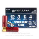 "Cheap 12 Gauge Ammo For Sale - 3"" 1-1/8 oz. #4 Ammunition in Stock by Federal Speed-Shok - 25 Rounds"
