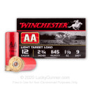 "Cheap 12 Gauge Ammo For Sale - 2 3/4"" 1 1/8 oz. #9 Shot Ammunition in Stock by Winchester AA - 25 Rounds"