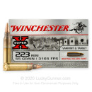 Bulk 223 Rem Ammo For Sale - 55 Grain BTHP Ammunition in Stock by Winchester Super-X - 500 Rounds