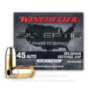 Premium 45 ACP Ammo For Sale - 185 Grain JHP Ammunition in Stock by Winchester Silvertip - 20 Rounds