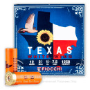 """Premium 12 Gauge Ammo For Sale - 2-3/4"""" 1-1/8 oz. #7.5 Shot Ammunition in Stock by Fiocchi Texas Dove Loads - 25 Rounds"""
