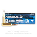 Premium 6.5 Creedmoor Ammo For Sale - 95 Grain V-MAX Ammunition in Stock by Federal Varmint & Predator - 20 Rounds