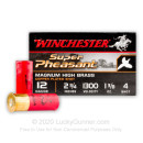"Bulk 12 Gauge Ammo For Sale - 2 3/4"" 1 3/8 oz. #4 Shot Ammunition in Stock by Winchester Super Pheasant - 250 Rounds"