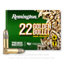 Cheap 22 LR Ammo For Sale - 36 Grain CPHP Ammunition in Stock by Remington 22 Golden Bullet - 225 Rounds