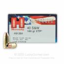 40 S&W Ammo - Hornady American Gunner 180 gr JHP XTP - 20 Rounds