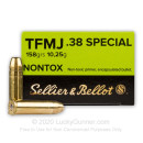 Cheap 38 Special Ammo For Sale - 158 gr TMJ Sellier & Bellot Nontox Ammunition In Stock - 50 Rounds