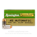 Bulk 45 ACP Ammo For Sale - 230 Grain Bonded JHP Ammunition in Stock by Remington Golden Saber - 500 Rounds