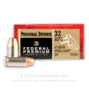 32 ACP Ammo For Sale - 65 gr Hydra-Shok JHP Federal Ammo Online