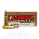 223 Rem - 55 gr Lead Free TSX Hollow Point Barnes VOR-TX Ammunition - Barnes - 20 Rounds