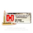 Cheap 223 Rem Hornady Ammo - 55 gr V-MAX - Hornady - 20 Rounds