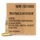 Bulk 5.56x45 Ammo For Sale - 55 Grain FMJ Ammunition in Stock by Winchester USA - 1000 Rounds
