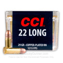 22 Long  Ammo For Sale - 29 gr CPRN - CCI 22 Long Ammunition In Stock - 100 Rounds