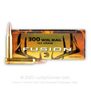 Premium 300 Winchester Magnum Ammo For Sale - 165 Grain Fusion Ammunition in Stock by Federal Fusion - 20 Rounds