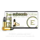 Bulk 22 LR Ammo For Sale - 38 Grain HP Ammunition in Stock by Eley Subsonic - 3000 Rounds