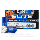 """Premium 12 Gauge Ammo For Sale - 2-1/2"""" 3/4oz. #8 Shot Ammunition in Stock by Kent Elite Low Recoil/Training - 25 Rounds"""