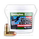 Cheap 380 Auto Ammo For Sale - 95 Grain FMJ Ammunition in Stock by Remington UMC - 300 Round Bucket
