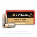 9mm Ammo - 147 gr Hydra Shok JHP -  Federal Ammunition - 20 Rounds