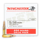 Cheap 5.56x45 Ammo For Sale - 55 Grain FMJ Ammunition in Stock by Winchester USA - 200 Rounds