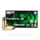 Cheap 9mm Ammo For Sale - 70 Grain Lead Free Ammunition in Stock by Federal American Eagle Indoor Range Training - 50 Rounds