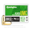 45 ACP Ammo For Sale - 230 gr MC - Remington UMC Ammunition In Stock - 1000 Rounds