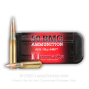Bulk 50 Cal BMG Ammo For Sale - 750 Grain A-Max Match Ammunition in Stock by Hornady - 100 Rounds