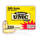 380 Auto Ammo In Stock - 95 gr MC - 380 ACP Ammunition by Remington UMC For Sale - 250 Round Mega Pack