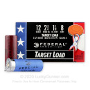 "12 Gauge Wounded Warrior Target Ammo - 2-3/4"" Lead Shot Target shells - 1-1/8 oz - #8 - Federal Top Gun - 250 Rounds"