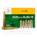 7x64mm Brenneke Ammo For Sale - 139 gr SP Ammunition In Stock by Sellier & Bellot - 20 Rounds