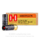 """12 ga Ammo For Sale - 2-3/4"""" 300 gr Sabot Slug Ammunition by Hornady"""