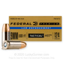 Premium 9mm Ammo For Sale - 124 Grain JHP Ammunition in Stock by Federal Premium Law Enforcement - 50 Rounds
