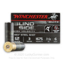 "Bulk 12 Gauge Ammo For Sale - 3"" 1-1/8 oz. #6 Steel Shot Ammunition in Stock by Winchester Blind Side High Velocity - 250 Rounds"