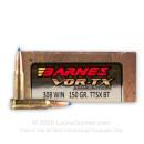 308 Winchester  - 150 gr Lead Free TTSX Hollow Point Barnes VOR-TX Ammunition - Barnes - 20 Rounds