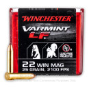 Premium 22 WMR Ammo For Sale - 25 Grain NTX Ammunition in Stock by Winchester Varmint LF - 50 Rounds