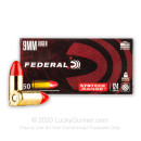 Premium 9mm Ammo For Sale - 124 Grain Total Synthetic Jacket RN Ammunition in Stock by Federal Syntech - 500 Rounds