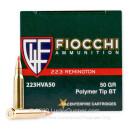 Bulk 223 Rem - 50 gr V-MAX - Fiocchi - 1000 Rounds