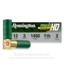 """Premium 12 Gauge Ammo For Sale - 3"""" 1-3/8oz. #2 Shot Ammunition in Stock by Remington Wingmaster HD - 10 Rounds"""