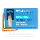 Cheap 8x57 IRS Ammo For Sale - 196 Grain PSP Ammunition in Stock by Prvi Partizan - 20 Rounds