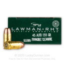 Premium 45 ACP Ammo For Sale - 155 Grain RHT Frangible Ammunition in Stock by Speer Lawman - 50 Rounds
