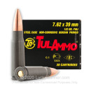 Bulk 7.62x39 Ammo In Stock - 122 gr FMJ - 7.62x39 Ammunition by Tula Cartridge Works For Sale - 20 Rounds