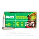 Bulk 223 Rem Ammo For Sale - 55 Grain BlitzKing Ammunition in Stock by Sierra Prairie Enemy - 200 Rounds