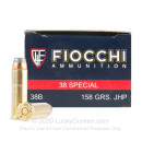 Bulk 38 Special Ammo For Sale - 158 Grain JHP Ammunition in Stock by Fiocchi - 1000 Rounds