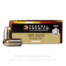 Premium 380 Auto Ammo For Sale - 99 Grain HST JHP Ammunition in Stock by Federal Premium - 50 Rounds