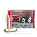 Cheap 22 LR Ammo For Sale - 40 Grain CPHP Ammunition in Stock by Winchester Super-X - 100 Rounds