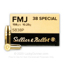 38 Special Ammo For Sale - 158 gr FMJ Sellier & Bellot  Ammunition In Stock