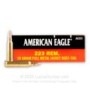 Bulk 223 Rem Ammo For Sale - 55 gr FMJ Ammunition In Stock by Federal American Eagle