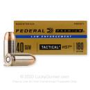 Defensive 40 S&W Ammo For Sale - 180 gr HST JHP  - Federal LE Tactical Ammunition In Stock